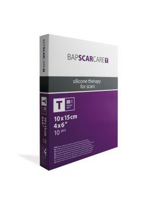 BAP Scar Care T 10x Rectangular Thin Silicone Dressings 15x10cm