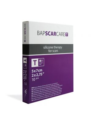 BAPScarCare T 10x Rectangular Thin Silicone Dressings 7x5cm