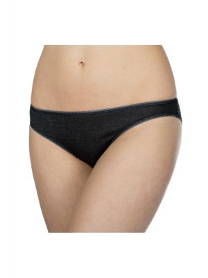 DermaSilk Ladies Black Briefs