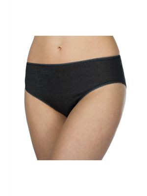 DermaSilk Ladies Black Comfort Briefs