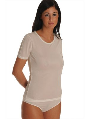 DermaSilk Ladies T-Shirt Round Neck Short Sleeve